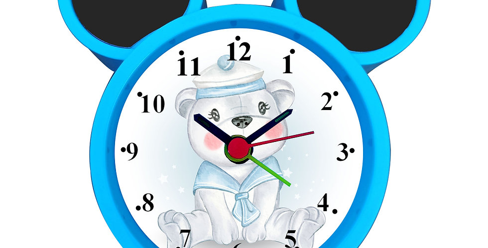 Cute Bear Alarm Clock for Kids Room by WENS
