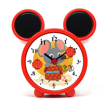 Cute Rat Alarm Clock for Kids Room by WENS