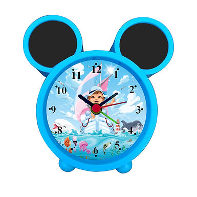 Cute Girl Water Ride Alarm Clock for Kids Room by WENS