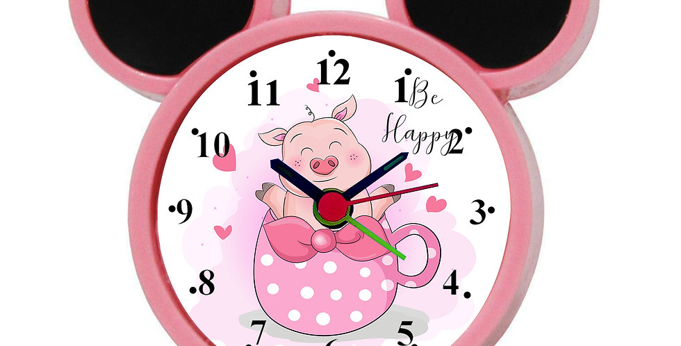 Be Happy Alarm Clock for Kids Room by WENS
