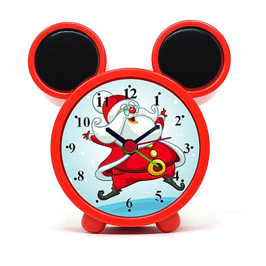 Laughing Santa Alarm Clock for Kids Room by WENS