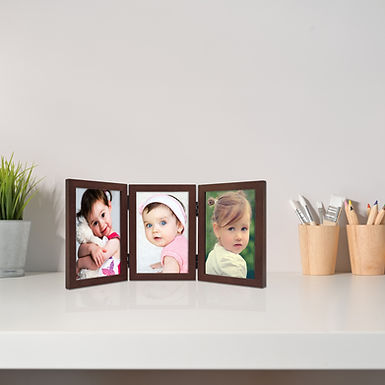 """Wens Trio Table Photo Frame With Acrylic Glass to Display Three 5""""x7"""" Inch photo"""