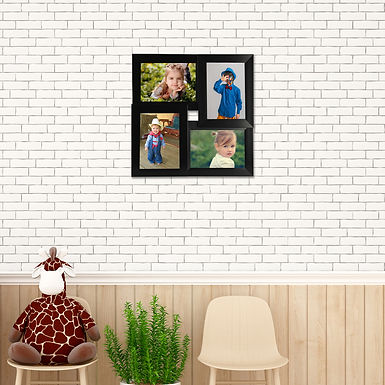 WENS Synthetic Wood Decorative Wall Mounted Photo Frame With Acrylic Glass-Black