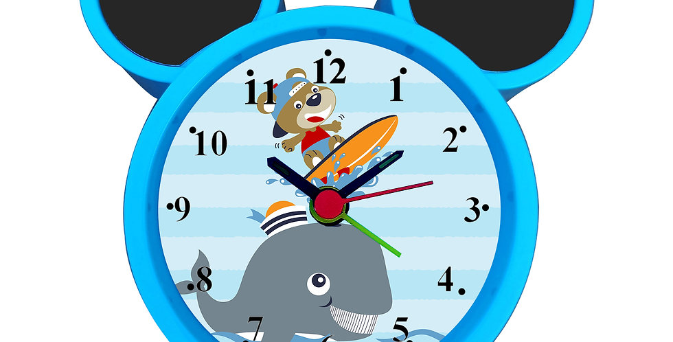 Fishing Time Alarm Clock for Kids Room by WENS
