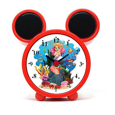 Smiling Mermaid Alarm Clock for Kids Room by WENS
