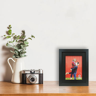 WENS Double Framing Synthetic Wood Wall Mount And Table Photo Frame- Black