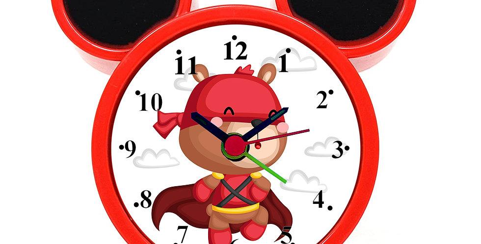 Bear Superhero Alarm Clock for Kids Room by WENS