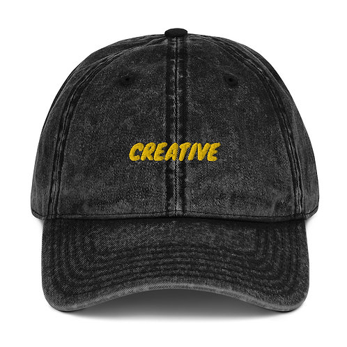 Vintage Cotton Creative Twill Cap