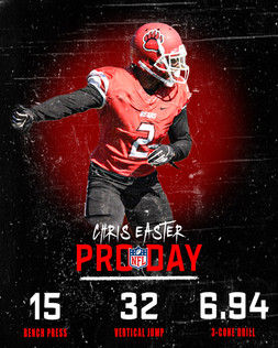 Chris Easter Pro Day Graphic