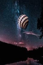 Hot Air Balloon Mily Way