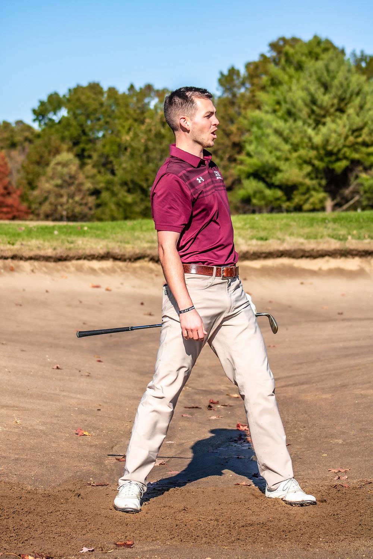 Former SIU golfer, Drew Novara: Photo by Greg Camillone