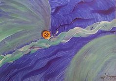 C06 Abstrait bleu et or