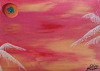 C05 Palmier au coucher de soleil