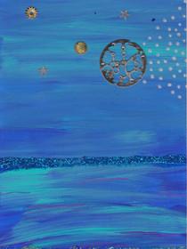 Pleine lune sur la mer C49