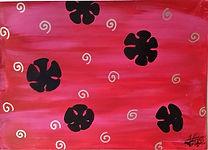 P14 Tourbillons et fleurs noires