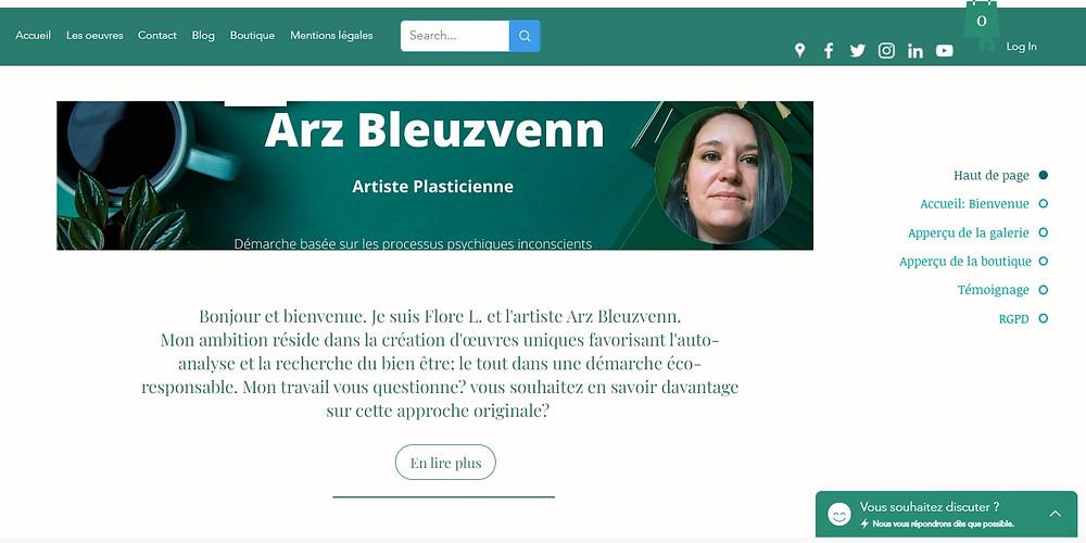 Page d'accueil du nouveau site