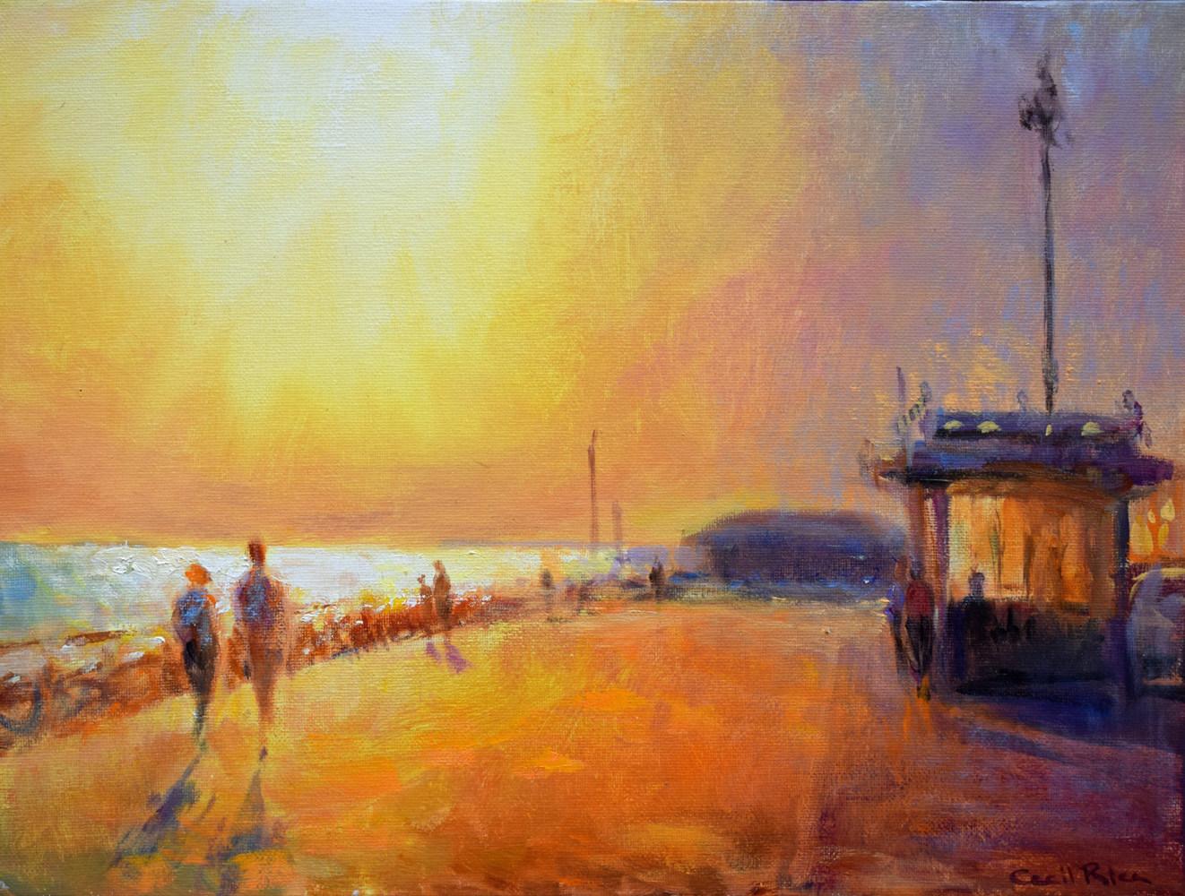 Hove Esplanade at Sunset