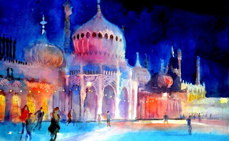 Ice skating, Royal Pavilion