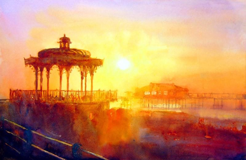 Bandstand at sunrise, Brighton