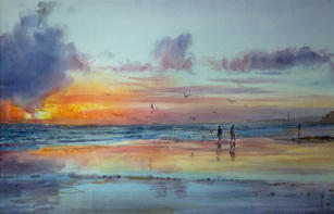 Low tide, Hove, October (NOW SOLD)