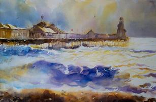 Choppy seas, Palace pier