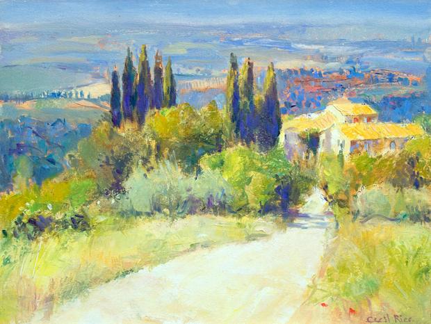 White road Tuscany