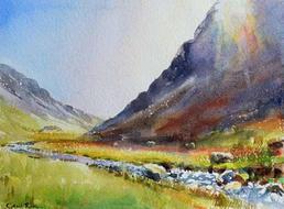 Honister Pass, sunlight
