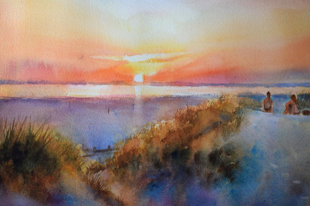 West Wittering, evening (NOW SOLD)