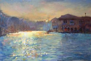 Sunrise, Grand Canal, Venice (Sold)