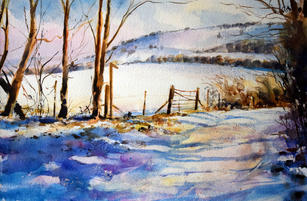 Snow on the downs, Sussex