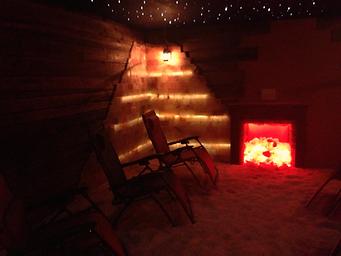 SaltEfx Harrisburg Pa Fireplace in Main Salt Room