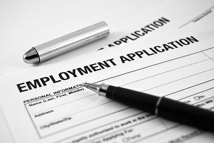 Employment application, construction job application