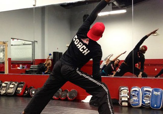 Combining Yoga and Kickboxing?  You decide........