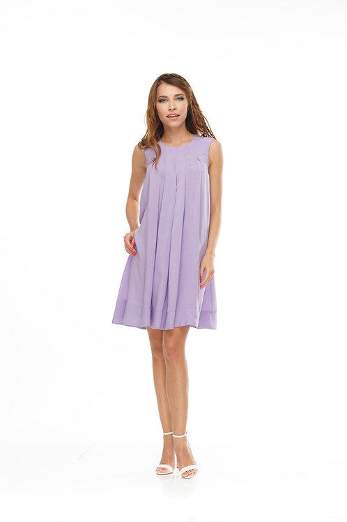 Платье в складку свободного кроя