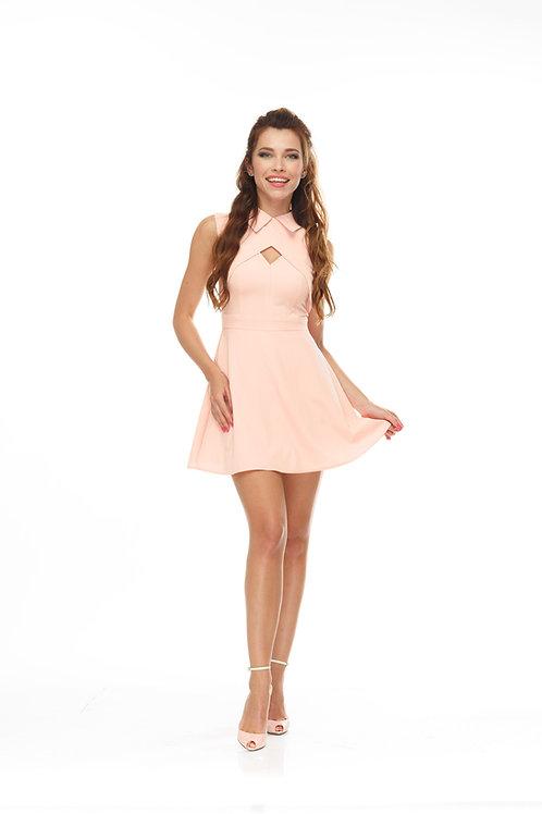 Платье с жилеткой и юбкой полусолнце