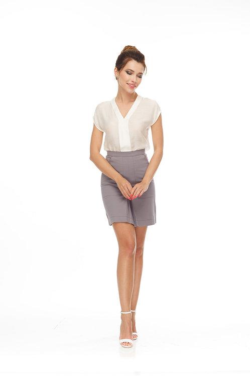 Блуза свободного кроя с планкой