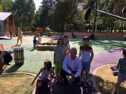 Сергей Собянин в парке 50 лет