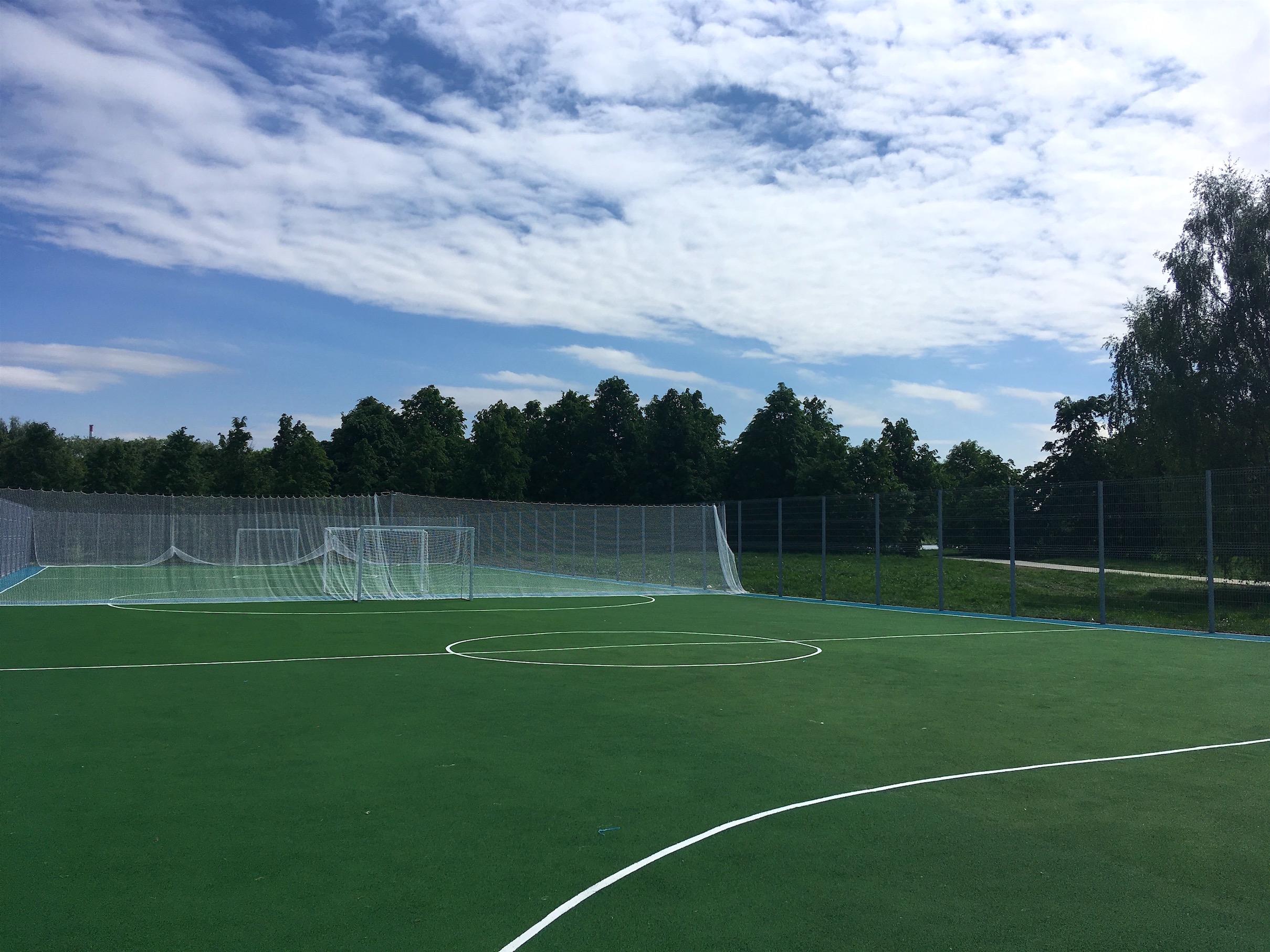 Покрытие футбольных полей