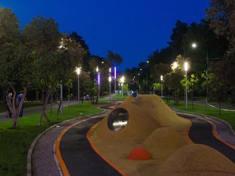 Детская площадка с геопластикой в Липецк