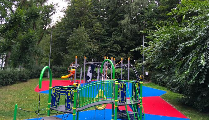 """Покрытие детской площадки в парке """"Сокольники"""""""
