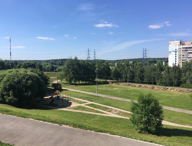 Благоустройство спортивного кластера в парке поймы реки Битца!