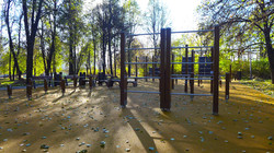 Покрытие спортивной площадки в парке Олимпийская деревня 80