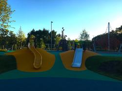 Резиновое покрытие детской площадки в Лужниках