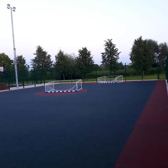 Замена покрытий спортивных площадок в ландшафтном парке Митино