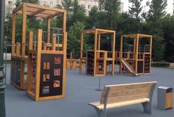 Покрытие детской площадки в парке Сиреневый сад