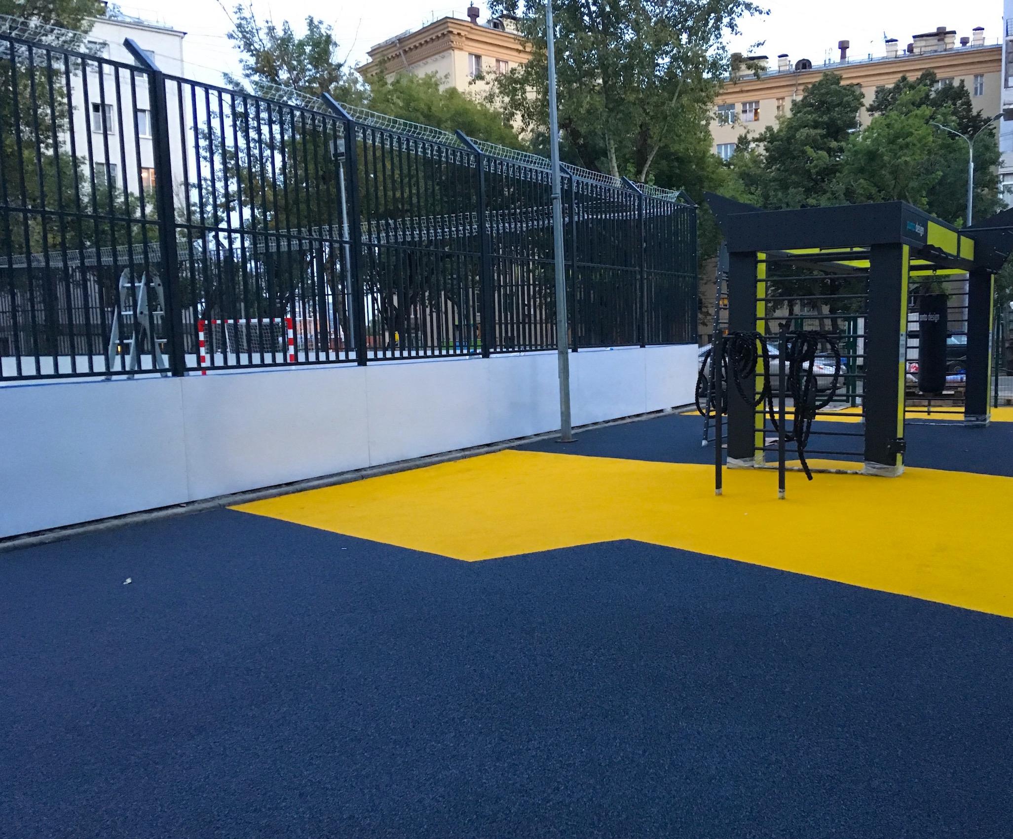 Покрытие спортивной площадки Punto design