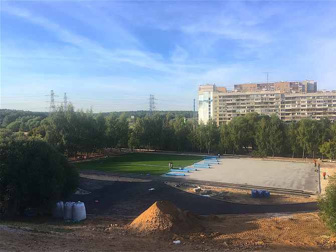 Спортивный кластер в парке поймы реки Битца...