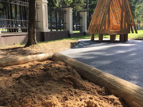 Уникальная детская площадка Rubber Dust.
