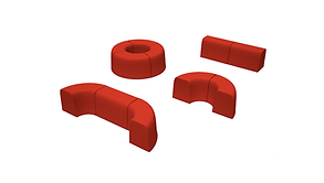 Модульные скамейки для детских площадок