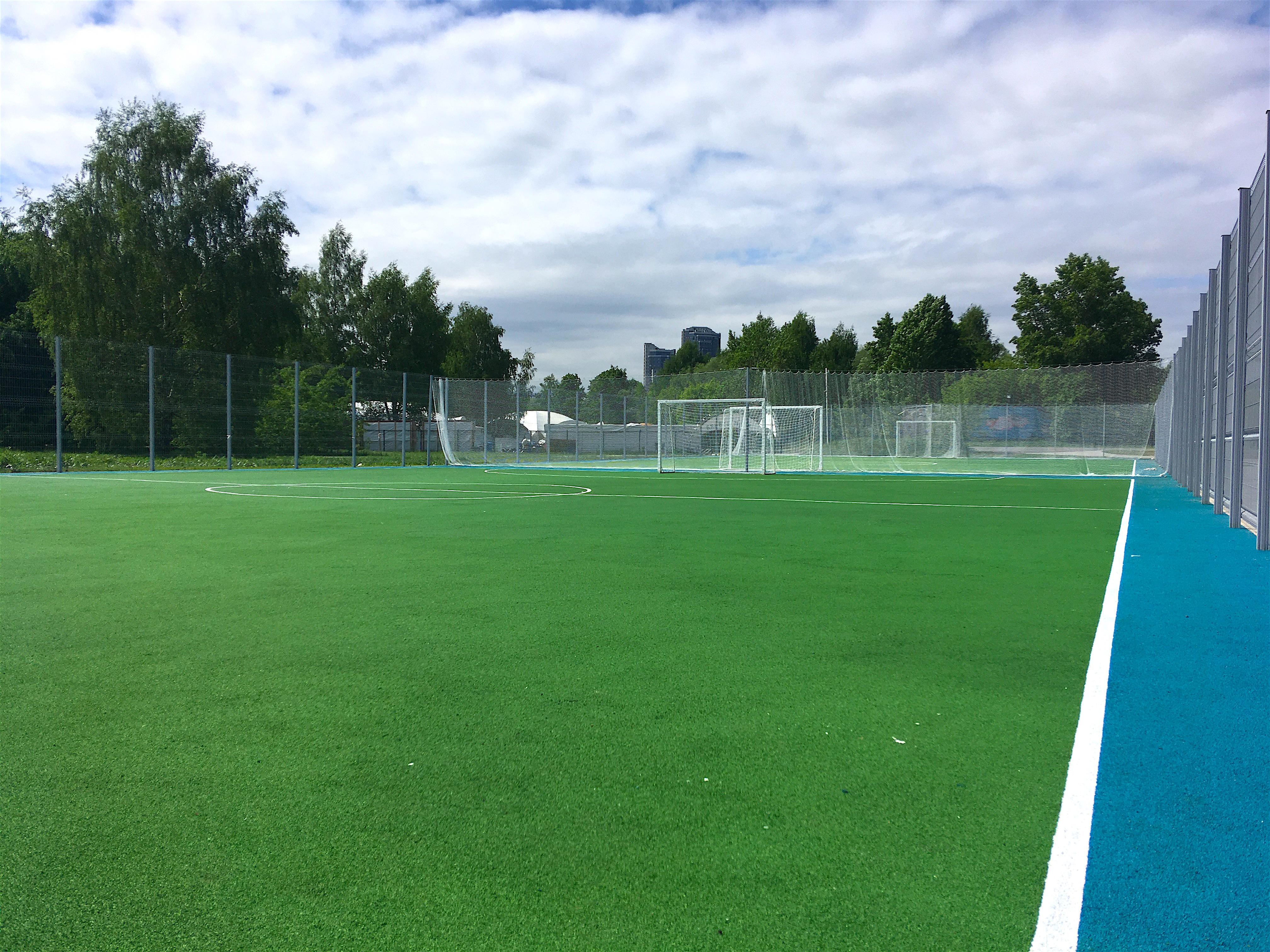 Покрытие спортивной площадки в парке строгинской поймы